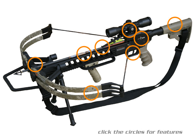 kodabow crossbow diagram - major features