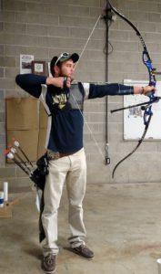 olympic archer shoots at Kodabow archery range