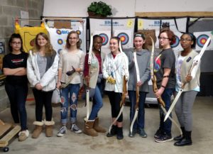 girl scouts at Kodabow archery range